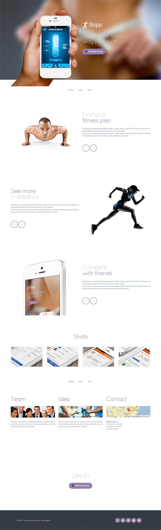 Superawesome – Retina Bootstrap App Landing Page