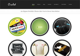 Free HTML5 WordPress Portfolio Theme – Circled