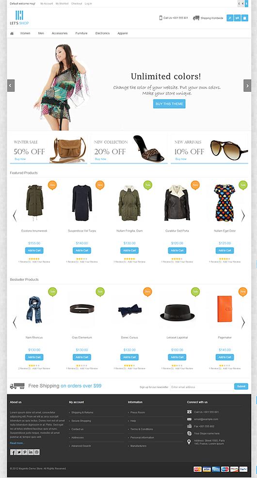 Let's Shop – Responsive Magento Theme