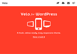 Velo – A fresh, Retina-Ready and Responsive Theme