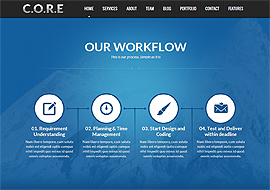 Core – One Page Responsive HTML5 Template