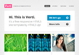 Verti Free responsive HTML5 site template