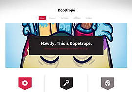 Dopetrope – Free HTML5 Responsive site template