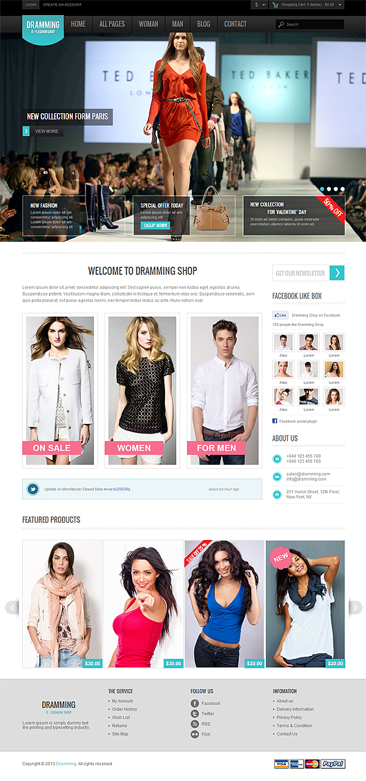 Dramming – Pleasant ecommerce site template