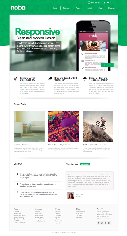 Nobb – Responsive Multi-Purpose WordPress Theme