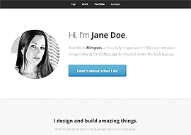 Miniport – Free HTML5 CSS3 Responsive Website Template