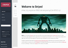 Striped – Free HTML5 Responsive Website Template