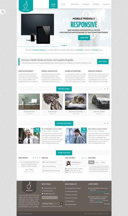 Wise Guys – Responsive Multipurpose HTML5 Template