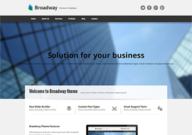 Broadway – Modern Business Responsive WordPress Theme