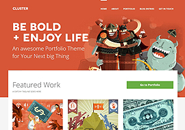Cluster – A Bold Responsive Portfolio WordPress Theme