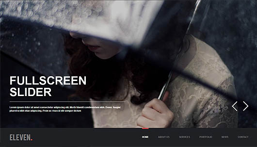 Eleven – WordPress Responsive One Page Parallax