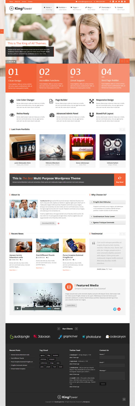 King Power – Retina Ready Multi-Purpose Responsive Theme