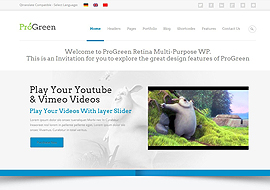 ProGreen – Retina Responsive Multi-Purpose WP Theme