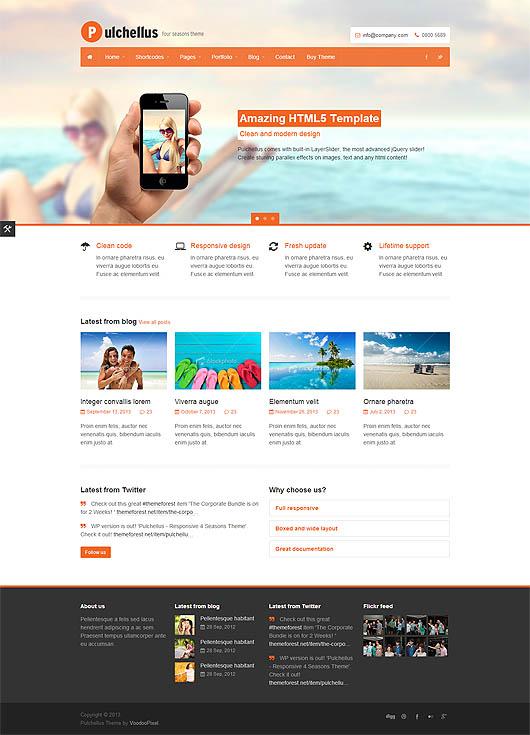 Pulchellus – Responsive HTML5 Template