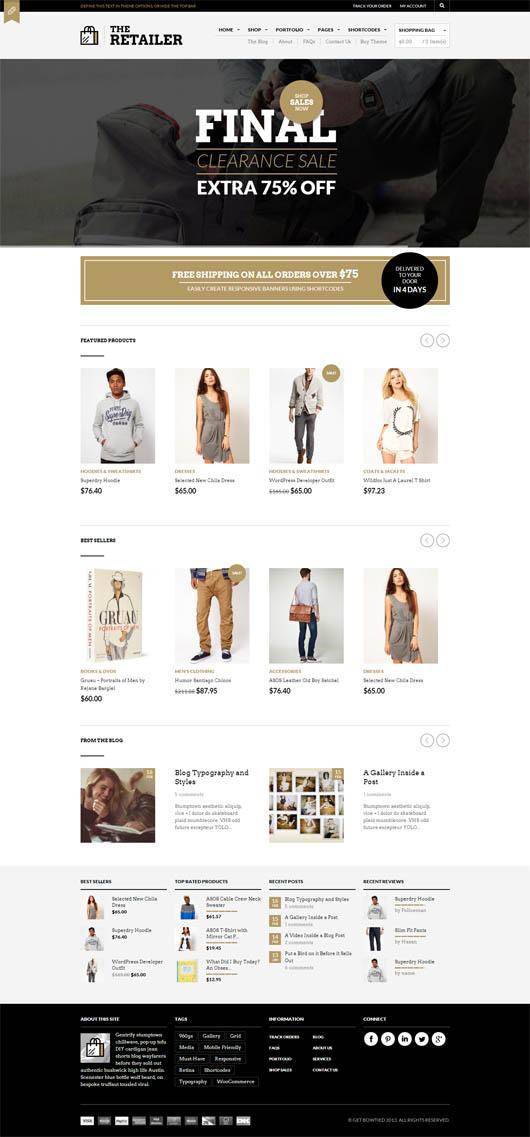 The Retailer – Retina Responsive WooCommerce Theme