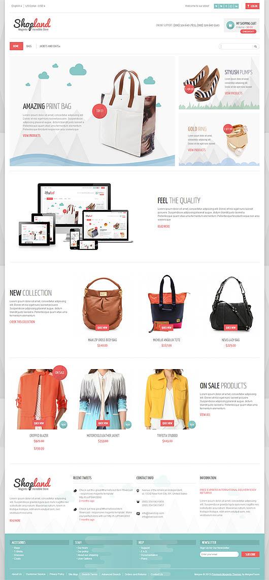 Shopland – Responsive & Retina Ready Magento Theme