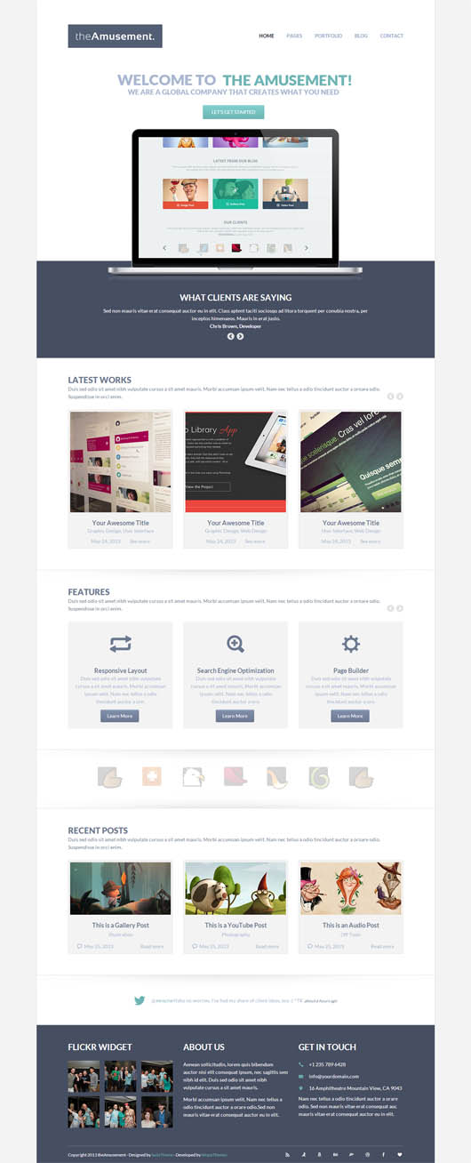 The Amusement – Responsive Portfolio Theme