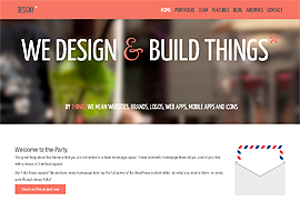 Designy – A design led Responsive Business WordPress theme