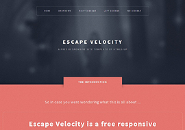 Escape Velocity – Free Responsive HTML5 Website Template