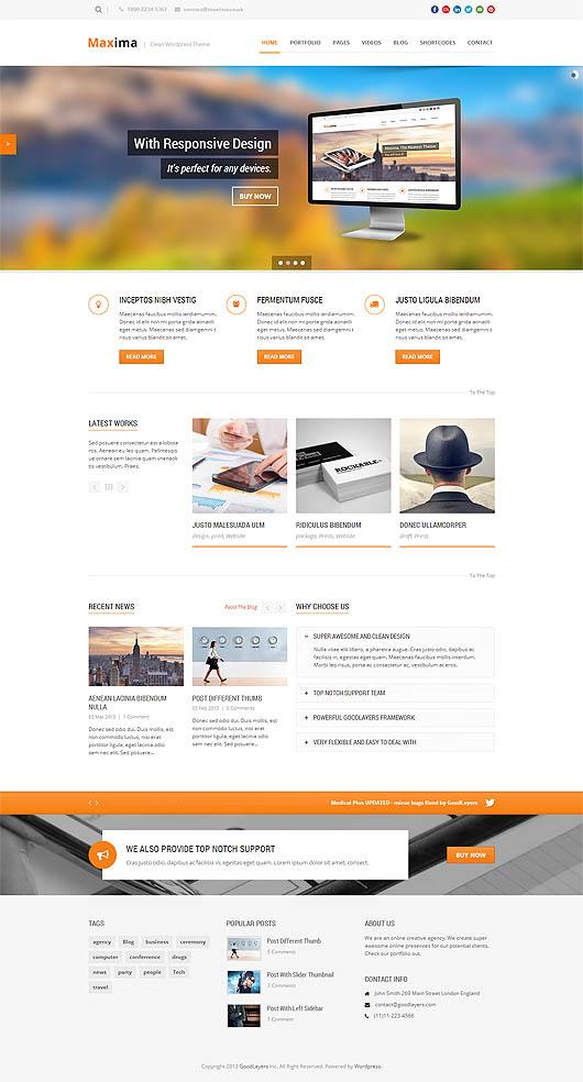 Maxima – Retina Ready Responsive WordPress Theme