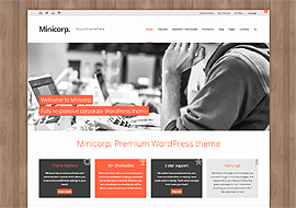 Minicorp – Fully Responsive WordPress Corporate Theme