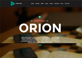 Orion – Responsive One Page WordPress Template