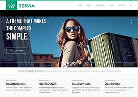Senna – Responsive Portfolio/ Blog WordPress Theme