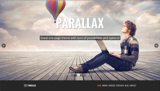 907 responsive wp one page parallax theme html5 mania