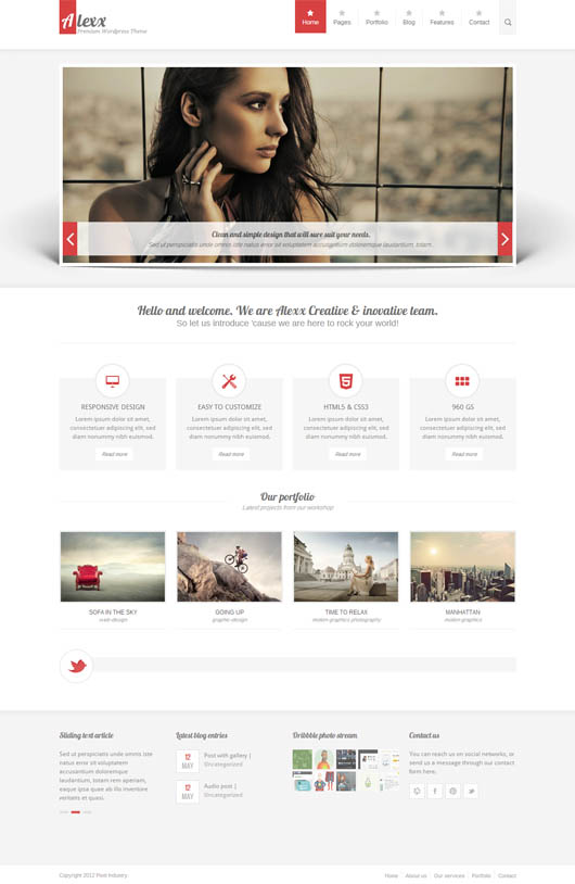 Alexx Multipurpose WP Theme