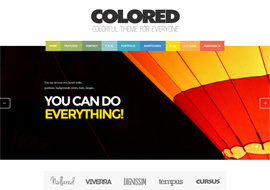 Colored – Responsive WordPress Portfolio theme