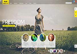 iCarus- Fullscreen Responsive Studio theme for WordPress