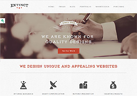 Extinct – Creative Portfolio WordPress Theme
