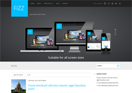 Fizz – Free HTML5 responsive WordPress theme