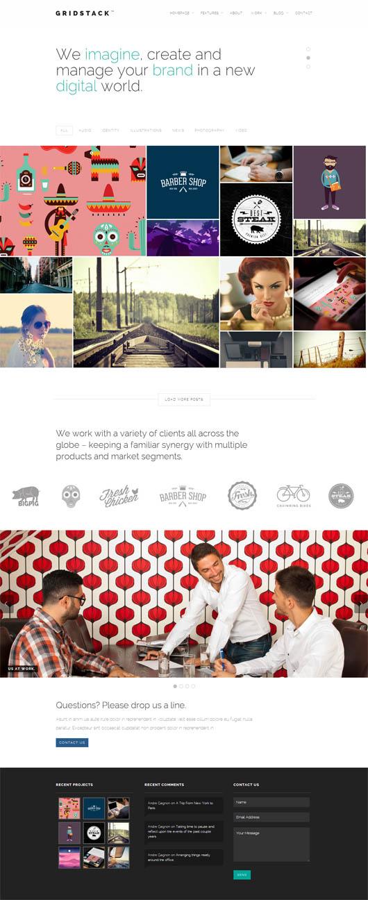 GridStack – Responsive Agency WordPress Theme