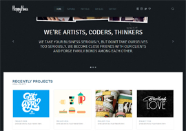 HappyHour- Responsive Portfolio WordPress Theme