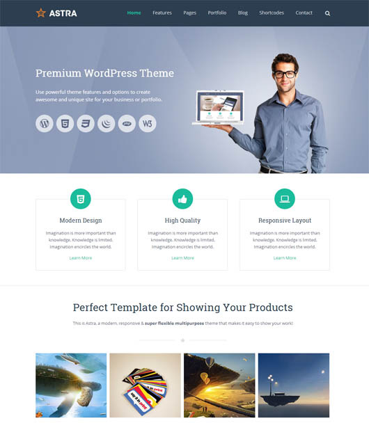 Astra – Retina Responsive WordPress Theme
