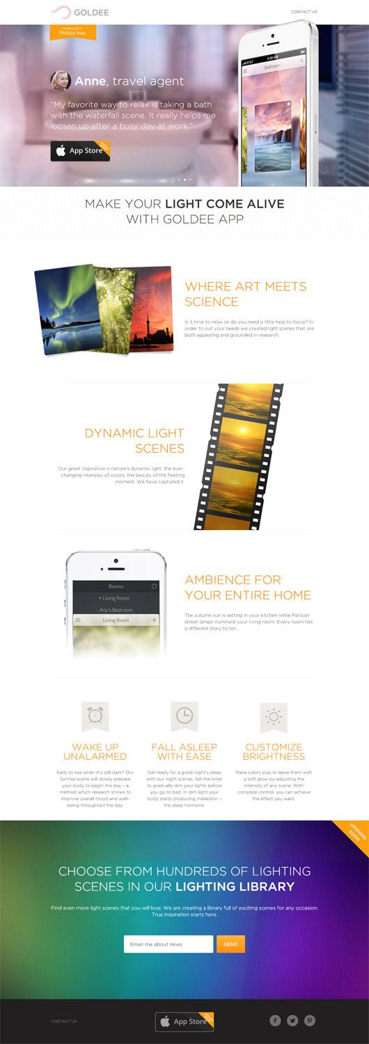 Goldee App for hue