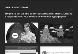 Type & Grids – Free Responsive HTML5 Template