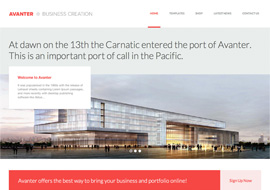 Avanter – Corporate & Architecture Theme