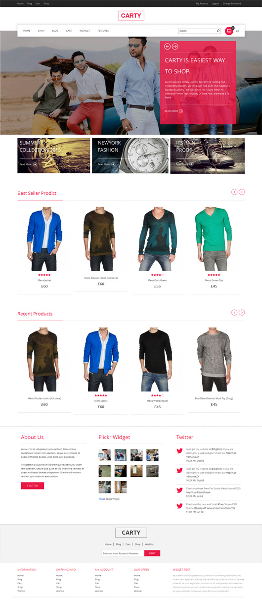 Carty – Retina, Responsive Woocommerce theme