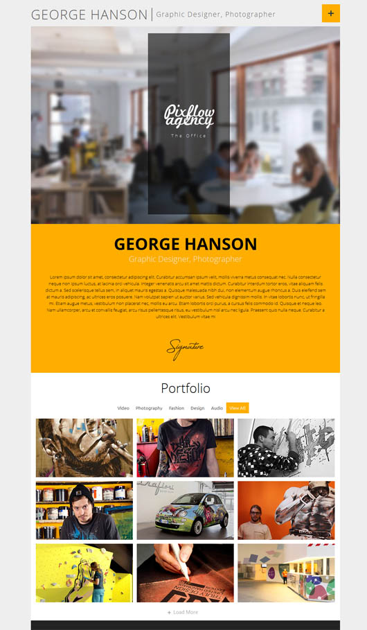 Profession – One Page CV Responsive Theme