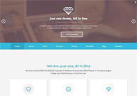 Just One – Responsive Parallax WordPress Theme