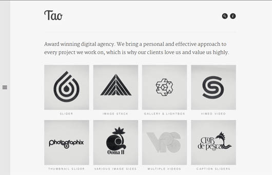 Tao: Retina & Responsive WordPress Portfolio Theme