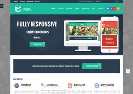Colangine – Creative Flat WordPress Theme