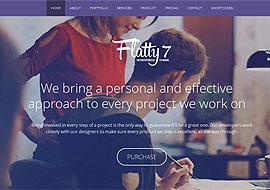 Flatty 7 – One Page Parallax WordPress Theme