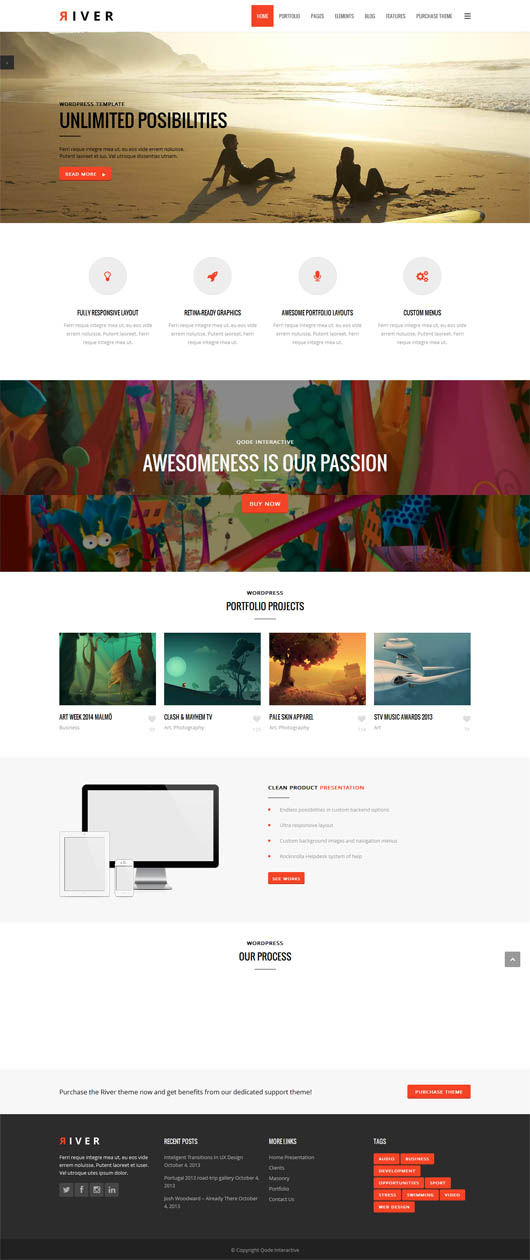 River – Retina Multi-Purpose WordPress Theme