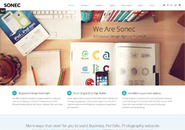 Sonec – Business, Portfolio and Photography Theme
