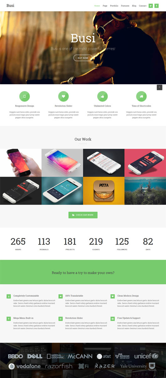 Busi – Responsive Multi-Purpose WordPress Theme