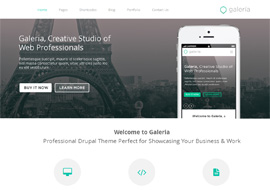Galeria – Responsive Creative Drupal Theme