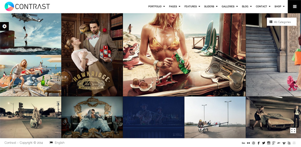 CONTRAST – Elite Photography & Portfolio WP Theme